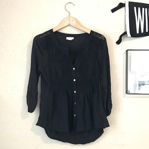 Anthropologie Meadow Rue • black blouse